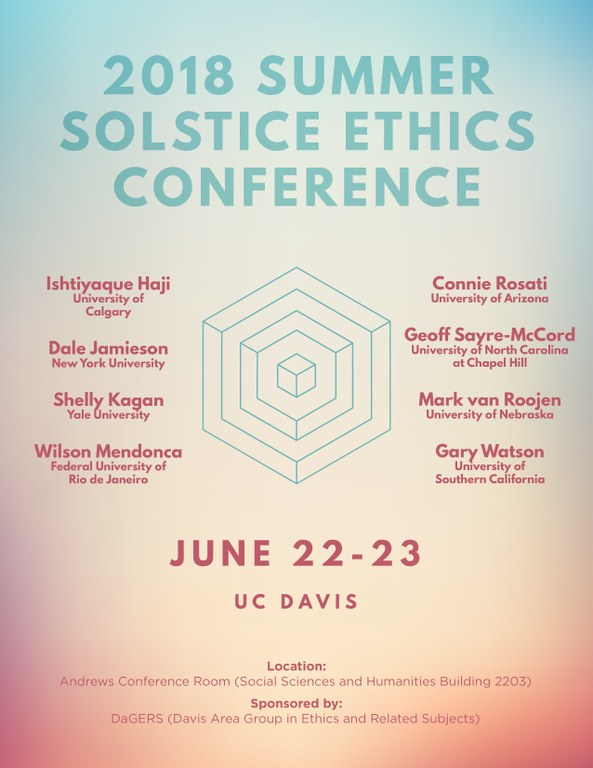 2018 Summer Solstice Ethics Conference